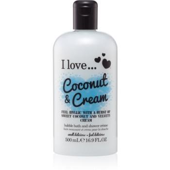 I love... Coconut & Cream Ulei gel de du? ?i baie imagine produs