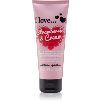 I love... Strawberries & Cream crema de maini