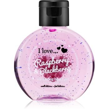 I love... Raspberry & Blackberry gel pentru curățarea mâinilor