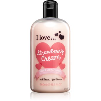 I love... Strawberry Cream cremă de duș și baie