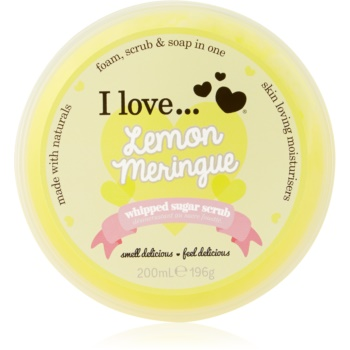 I love... Lemon Meringue exfoliant din zahar