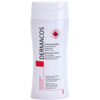 Ideepharm Dermacos Capillary apa pentru  curatare cu particule micele pe fata si ochi