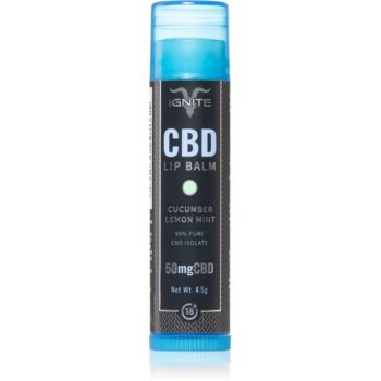 Ignite CBD Cucumber Lemon Mint 50mg balsam de buze imagine