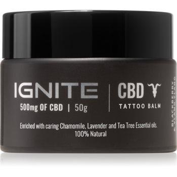 Ignite CBD Camomile, Lavender & Tea Tree 500mg balsam pentru îngrijirea tatuajelor proaspete