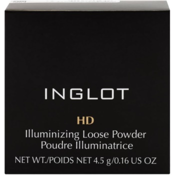 Inglot HD озаряваща насипна пудра с диамантен прах 3