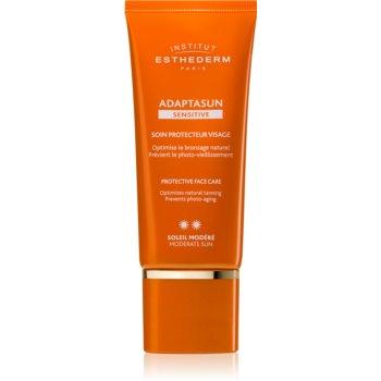 Institut Esthederm Adaptasun Sensitive Protective Face Care crema protectoare pentru fata protectie medie impotriva razelor UV imagine produs