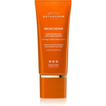 Institut Esthederm Bronz Repair Protective Anti-Wrinkle and Firming Face Care cremă facială antirid pentru fermitate cu o protectie UV ridicata