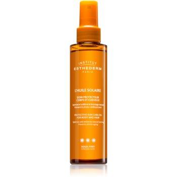 Institut Esthederm Sun Care Protective Sun Care Oil For Body And Hair ulei cu protectie solara pentru piele si par cu o protectie UV ridicata imagine produs