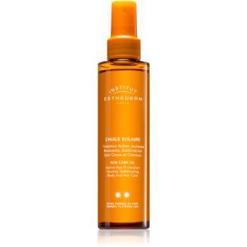 Institut Esthederm Sun Care ulei cu protectie solara pentru piele si par protectie medie impotriva razelor UV imagine produs