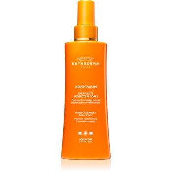 Institut Esthederm Adaptasun Protective Milky Body Spray spay-lotiune de protectie solara cu o protectie UV ridicata imagine produs