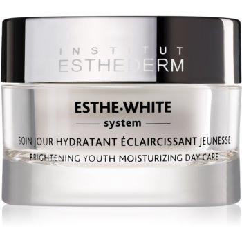 Institut Esthederm Esthe White Brightening Youth Moisturizing Day Care tratament zilnic de reîntinerire pentru o piele hidratată și strălucitoare