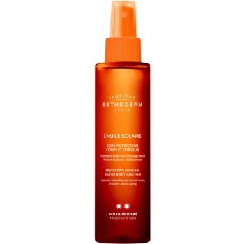 Institut Esthederm Sun Care ulei cu protectie solara pentru piele si par protectie medie impotriva razelor UV  150 ml