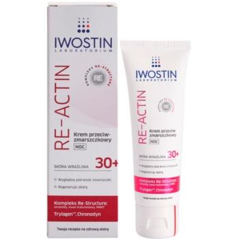 Iwostin Re-Actin нощен крем против бръчки  за чувствителна кожа на лицето 1