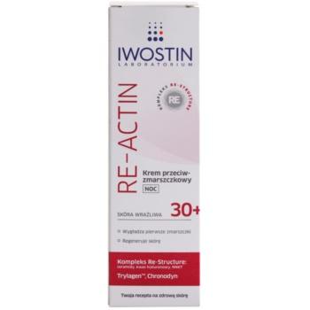 Iwostin Re-Actin нощен крем против бръчки  за чувствителна кожа на лицето 2