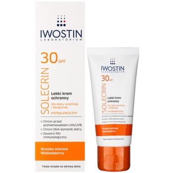 Iwostin Solercin лек защитен крем за чувствителна и алергична кожа SPF 30 1