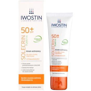 Iwostin Solercin Purritin crema matifiere protectoare pentru ten gras cu imperfectiuni SPF 50+ 1