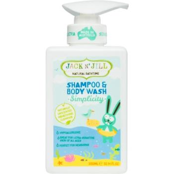 Jack N' Jill Simplicity gel de duș și șampon delicat pentru copii 2 in 1 poza noua