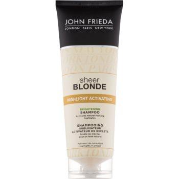 John Frieda Sheer Blonde Highlight Activating sampon pentru stralucire pentru par blond