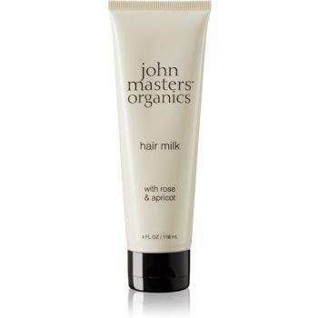 John Masters Organics Rose & Apricot lapte pentru par ce nu necesita clatire pentru varfuri deteriorate imagine produs