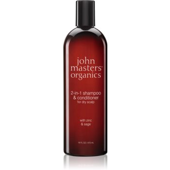 John Masters Organics Zinc & Sage sampon si balsam 2 in 1 imagine produs