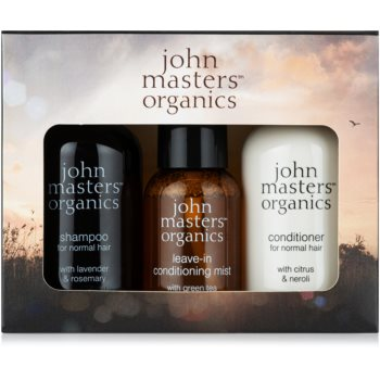 John Masters Organics Lavender Rosemary Set de călătorii III. (pentru păr)