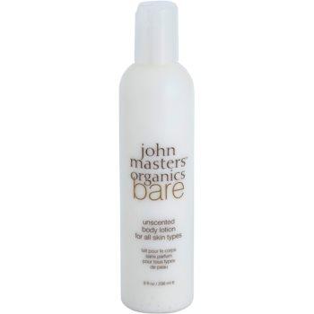 John Masters Organics Bare Unscented mleczko do ciała nieperfumowane