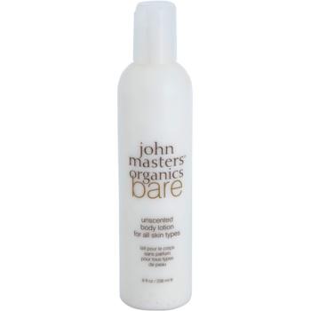 John Masters Organics Bare Unscented lotiune de corp fara parfum