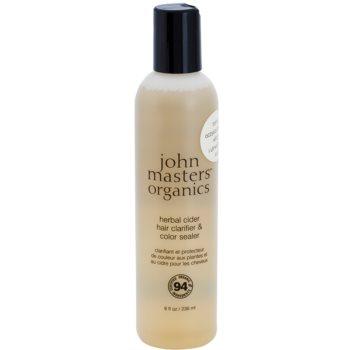 John Masters Organics Herbal Cider почистваща грижа за коса за фиксиране на цвета