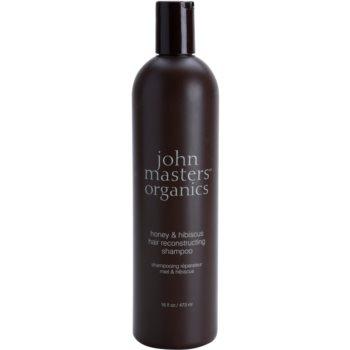 John Masters Organics Honey & Hibiscus obnovující šampon pro posílení vlasů 473 ml