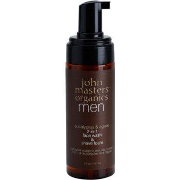 John Masters Organics Men čistilna pena za britje 2v1 1