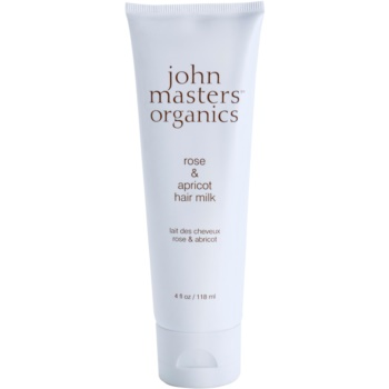 John Masters Organics Rose & Apricot lapte pentru par ce nu necesita clatire pentru varfuri deteriorate