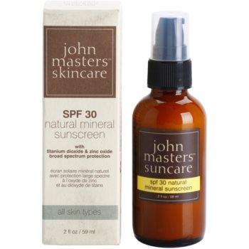 John Masters Organics Sun Care creme facial protetor com minerais SPF 30 2