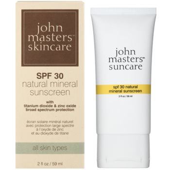 John Masters Organics Sun Care ochranný krém s minerálními UV filtry SPF 30 1