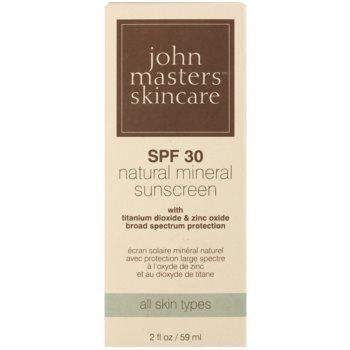 John Masters Organics Sun Care ochranný krém s minerálními UV filtry SPF 30 2