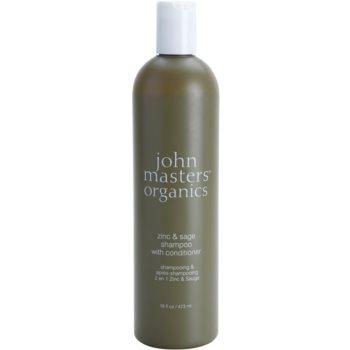 John Masters Organics Zinc & Sage sampon si balsam 2 in 1 pentru scalp iritat