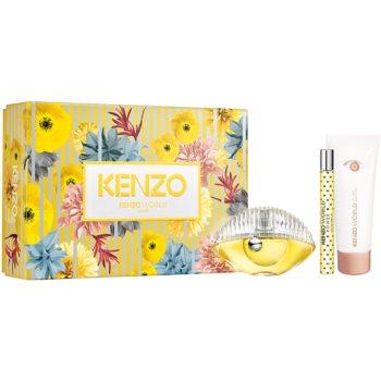 Kenzo Kenzo World parfémovaná voda 50 ml + parfémovaná voda cestovní sprej 10 ml + tělové mléko 75 ml
