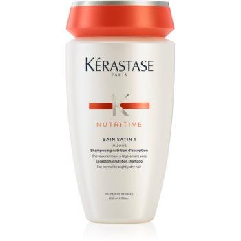 Kérastase Nutritive Bain Satin 1 šamponová lázeň pro lesk a ochranu barvy normálních až lehce zcitlivělých barvených vlasů 250 ml