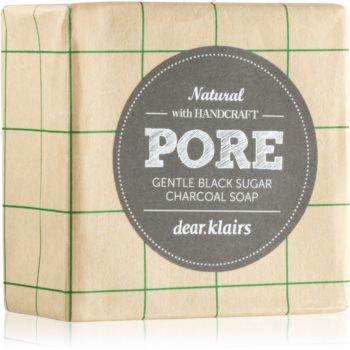 Klairs Gentle Black sapun solid pentru ten gras