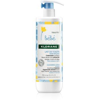 Klorane Bébé Calendula lapte de curatare pentru piele normala si uscata poza