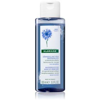 Klorane Bleuet demachiant pentru indepartarea machiajului rezistent la apa pentru piele sensibilã poza