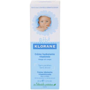 Klorane Bébé hydratační krém na obličej a tělo 3