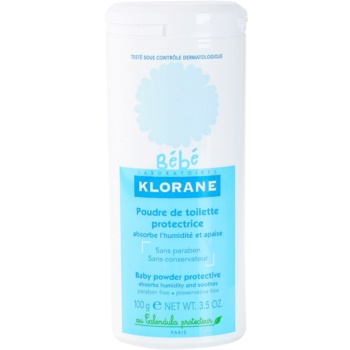 Klorane Bébé pudra de talc pentru copii fara parabeni