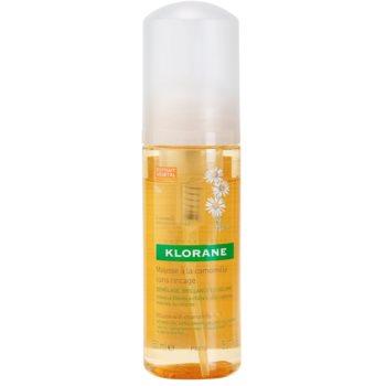 Klorane Camomille espuma para fortalecimiento y brillo de cabello