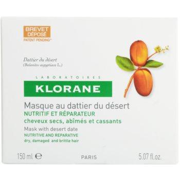 Klorane Dattier подхранваща маска  за крехка и стресирана коса 2