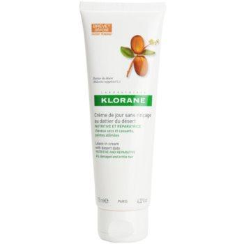 Klorane Desert Date bezoplachová krémová péče pro lámavé a namáhané vlasy 125 ml