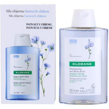Klorane Flax Fiber шампунь для тонкого та ослабленого волосся 1