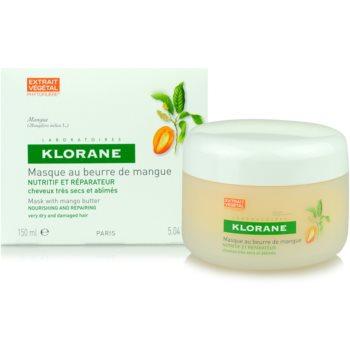 Klorane Mangue подхранваща маска  за суха и увредена коса 1