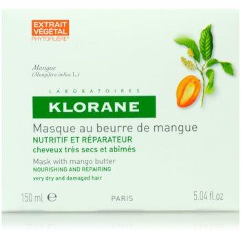 Klorane Mangue подхранваща маска  за суха и увредена коса 2