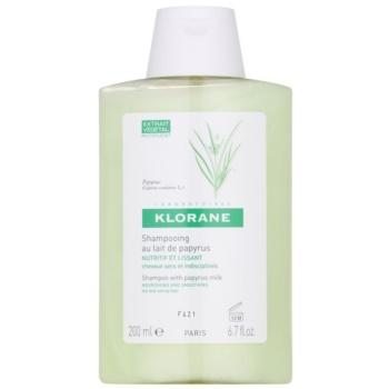 Fotografie Klorane Papyrus Milk šampon pro suché a nepoddajné vlasy 200 ml