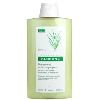 Fotografie Klorane Papyrus Milk šampon pro suché a nepoddajné vlasy 400 ml